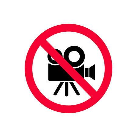 No video cameras allowed. No recording prohibition sign. No video sign.