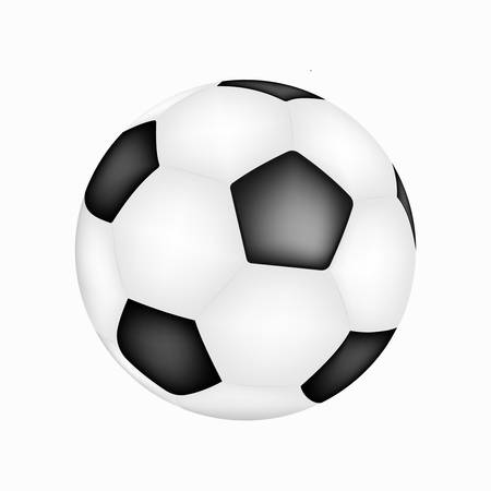 Realistic football illustration. Truthful soccer ball game vector icon. Realistic soccer ball.