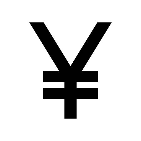 Japanese Yen Currency Symbol Black Silhouette Japan Yen Sign