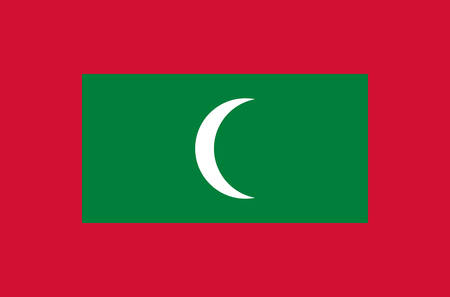 Maldive national flag, official flag of Maldives accurate colors, true color