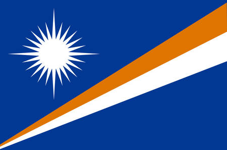 Marshall Islands national flag, official flag of Marshall Islands accurate colors, true color