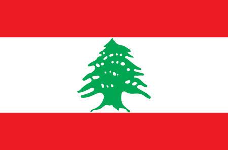 Bandera nacional libanesa, bandera oficial del Líbano colores precisos, color verdadero