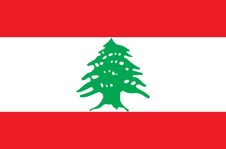 Lebanese national flag, official flag of Lebanon accurate colors, true color