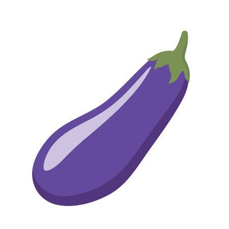 Colorful eggplant clipart cartoon. Eggplant vector illustration.