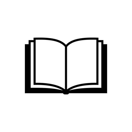Open book vector simple icon. Black isolated open book icon.