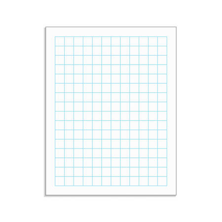 Graph paper sheet with drop shadow. Grid paper vector notebook sheet with blue lines. Иллюстрация