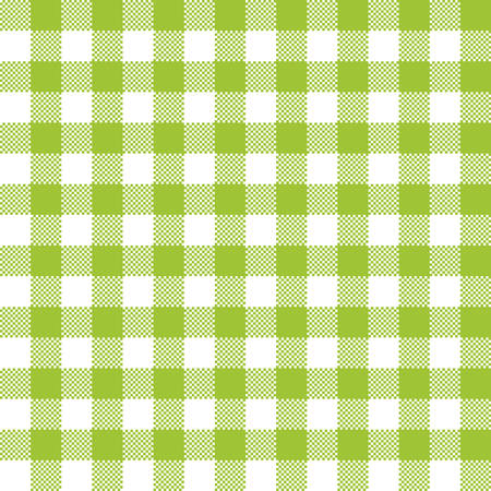 Green checkered tartan seamless pattern design. Tablecloth checkered green squares vector seamless pattern texture. Иллюстрация