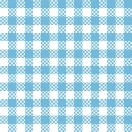 Blue checkered tartan seamless pattern design. Tablecloth checkered blue squares vector seamless pattern texture. Иллюстрация