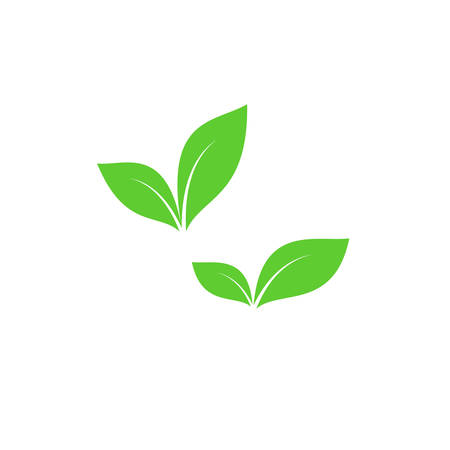 Green leaf vector symbols. Green leaves simple icon set. Иллюстрация
