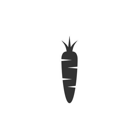 Carrot simple glyph vector icon. Black isolated  carrot symbol Ilustração
