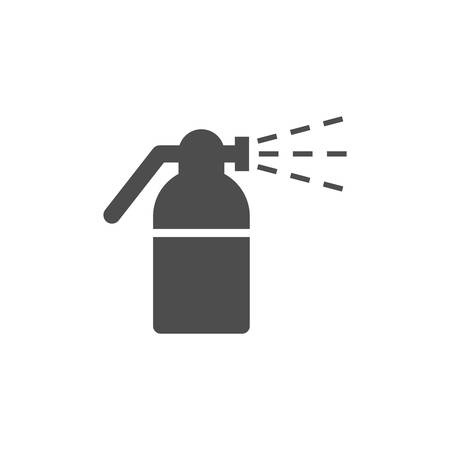 Atomizer or vaporizer black simple vector icon. Spray gun, sprayer stylized glyph symbol.