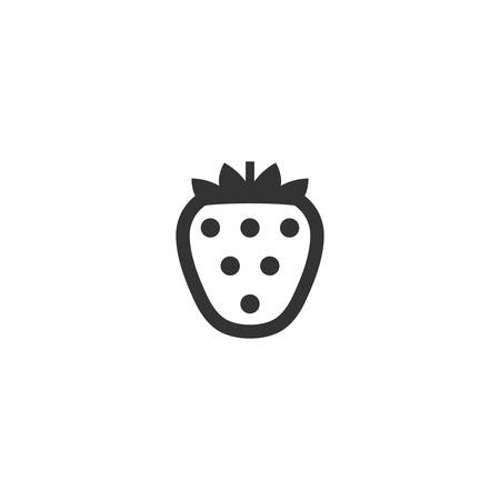 Strawberry simple glyph vector icon. Stylized strawberry black isolated symbol.