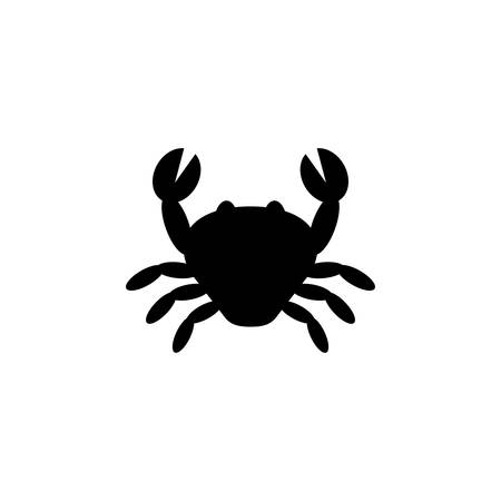 Crustaceans, crab food silhouette vector icon. Crab black isolated vector icon.