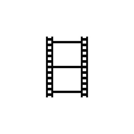Filmstrip horizontal blank vector. Photographic film tape black isolated frame.