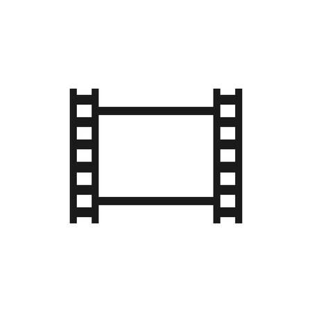 Black isolated filmstrip vector. Photographic film tape blanck icon. Illustration