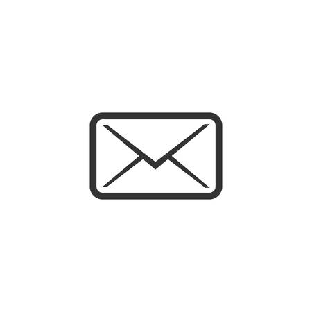 Post envelope simple glyph vector icon. Closed letter, mail symbol.