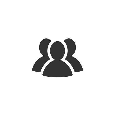 Group of people, team or social network simple vector icon. Teamwork or social group concept glyph icon.