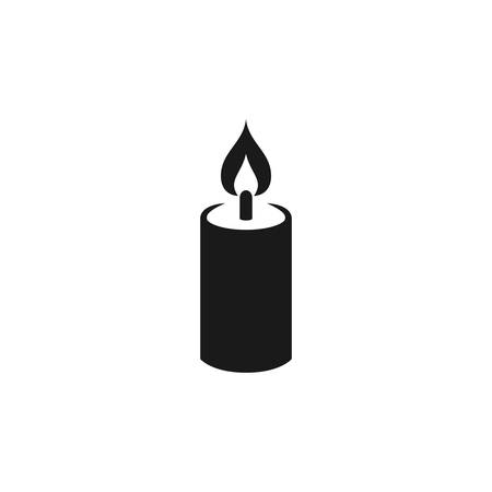 Candle simple black vector icon for birthday or religion. Glyph symbol. Stock Illustratie
