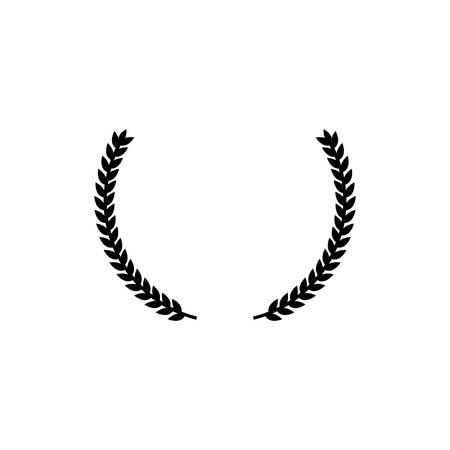Laurel wreath black isolated simple vector icon. Glyph pictogram. Stock Illustratie