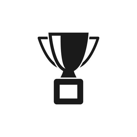 Winner cup black isolated vector icon. Trophy award simple symbol.