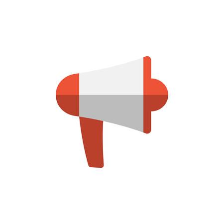 Megaphone flat colorful vector icon. Loudspeaker or bullhorn cartoon in color symbol.