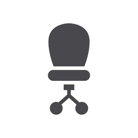 Office chair simple vector icon. Manager chair pictogram glyph symbol.
