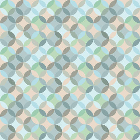 Geometric circle seamless pattern design. Tile like colourful pattern in pastel colors.