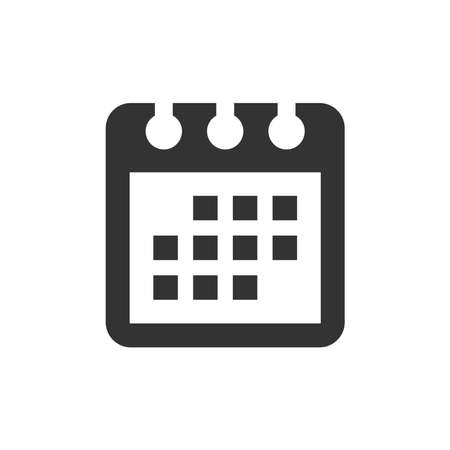 Calendar vector icon. Simple calendar black glyph symbol.