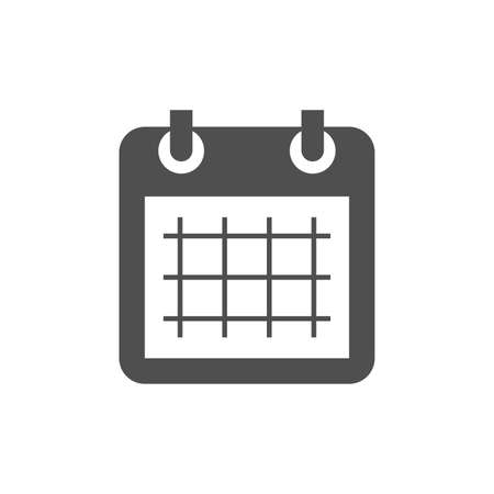 Simple calendar icon. Calendar page black vector symbol.