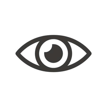 Human eye black vector icon. Simple eye glyph symbol. 向量圖像