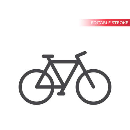 Bicycle line vector icon. Simple symbol, editable stroke.