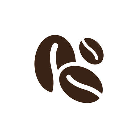 Coffee beans roasted vector icon. Cafe bean symbol.