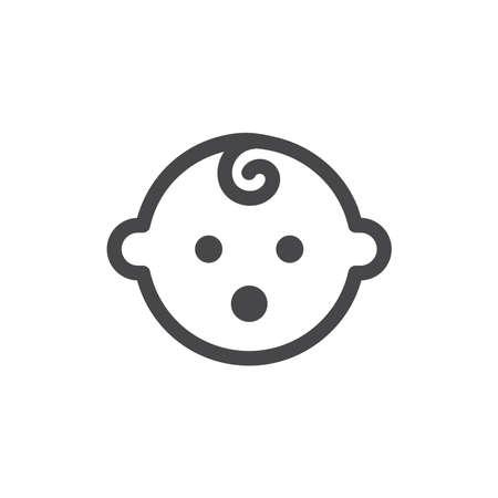 Baby simple black vector icon. Glyph symbol.