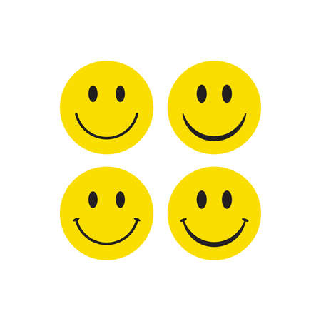 Smiling face colorful icon. Happy smile emoticon vector. Ilustracja