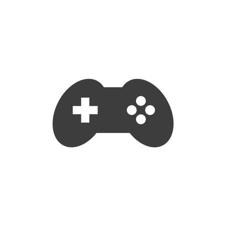 Joystick, game controller black icon. Console, video game vector symbol. Ilustracja
