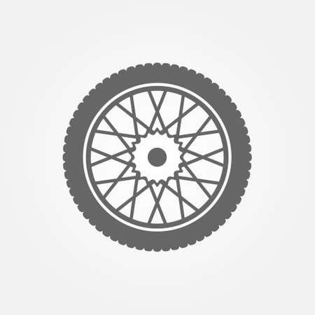 objects: Wheel icon or symbol. Black vector bike or motorcycle wheel logo