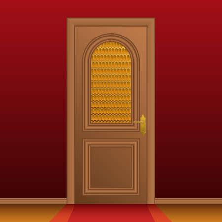 Closed entrance door