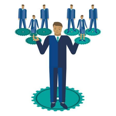 male symbol: Business teamwork vector illustration. Business team management