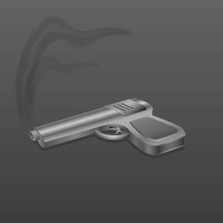 Gun with smoke Illustration