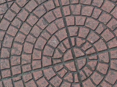 pedestrian walkway: Tiles design on the pedestrian walkway in Petaling Street