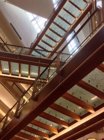 elevated walkway: Bottom-to-top view of elevated walkway