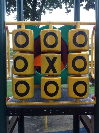 children playground: Equipment in the children playground Stock Photo