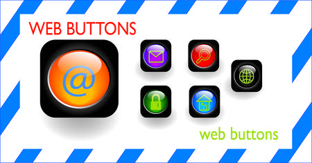 web buttons Stock Vector - 4933239