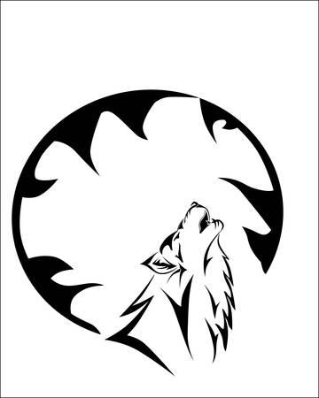 Vector illustration of tribal wolf Illustration