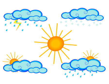 set of weather icons Stock Vector - 4933234