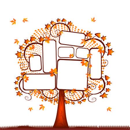 Blank tablet tree Stock Vector - 4949089