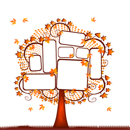 Blank tablet tree Stock Vector - 4949089