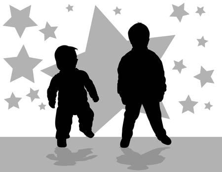 children vector Stock Vector - 4951391