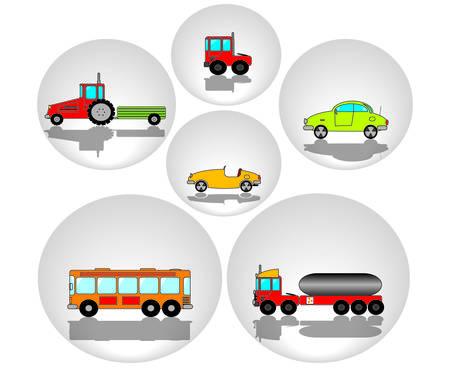 buss:  cute cars Illustration