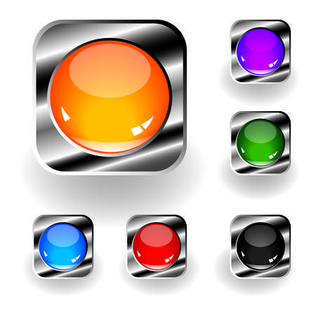 buttons Stock Vector - 4949091